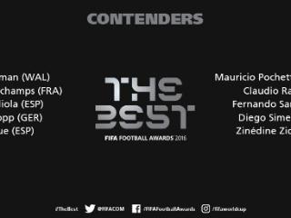 FIFA年度最佳教练10候选:西超3主帅 拉涅利瓜帅